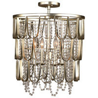 Kalco 508840CSL Dulce 4 Light 18 inch Champagne Silver Leaf Pendant Ceiling Light