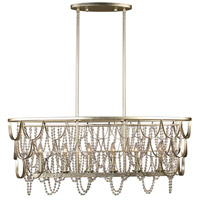 Kalco 508860CSL Dulce 6 Light 44 inch Champagne Silver Leaf Island Ceiling Light