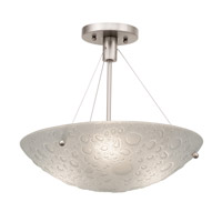 Kalco 5089SN Cirrus 3 Light 16 inch Satin Nickel Semi Flush Mount Ceiling Light