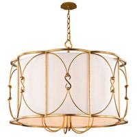 Kalco 509051OL Olivia 6 Light 26 inch Oxidized Gold Leaf Pendant Ceiling Light
