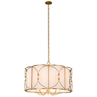 Kalco 509052OL Olivia 8 Light 32 inch Oxidized Gold Leaf Pendant Ceiling Light