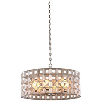 Kalco 509152OSL Prado 6 Light 26 inch Oxidized Silver Leaf Pendant Ceiling Light