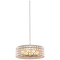 Prado 8 Light 33 inch Oxidized Silver Leaf Pendant Ceiling Light