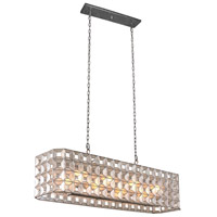 Kalco 509160OSL Prado 8 Light 46 inch Oxidized Silver Leaf Island Ceiling Light