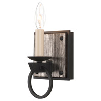 Kalco 509231BI Laramie 1 Light 5 inch Black Iron Vanity Light Wall Light
