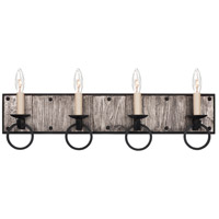 Kalco 509234BI Laramie 4 Light 26 inch Black Iron Vanity Light Wall Light