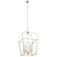 Kalco 509353WS Sutter 8 Light 34 inch Warm Silver Pendant Ceiling Light