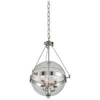 Kalco 509550PN Covington 3 Light 14 inch Polished Nickel Pendant Ceiling Light