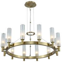 Kalco 509671WB Lorne LED 27 inch Winter Brass Chandelier Ceiling Light