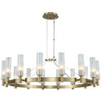 Kalco 509672WB Lorne LED 34 inch Winter Brass Chandelier Ceiling Light
