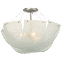 Kalco Lighting Cirrus 3 Light Semi Flush in Satin Nickel 5096SN
