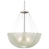 Kalco 5098SN Cirrus 3 Light 24 inch Satin Nickel Pendant Ceiling Light in MB