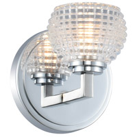 Kalco 510031CH Marina 1 Light 5 inch Chrome Vanity Light Wall Light