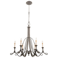 Keller 6 Light 40 inch Royal Mahogany Chandelier Ceiling Light in Vintage Iron
