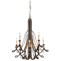 Keller 10 Light 49 inch Royal Mahogany Chandelier Ceiling Light in Vintage Iron