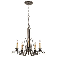 Keller 5 Light 28 inch Royal Mahogany Chandelier Ceiling Light in Vintage Iron