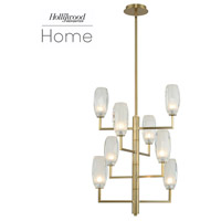 Kalco 511550WB June 8 Light 21 inch Winter Brass Foyer Ceiling Light
