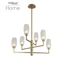 Kalco 511570WB June LED 28 inch Winter Brass Chandelier Ceiling Light