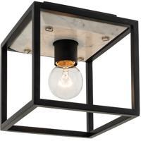 Kalco 512041MB Plaza 1 Light 7 inch Matte Black/Polished Nickel Flush Mount Ceiling Light