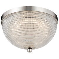 Kalco 512141PN Portland LED 10 inch Polished Nickel Flush Mount Ceiling Light