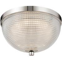 Kalco 512141PN Portland LED 10 inch Polished Nickel Flush Mount Ceiling Light