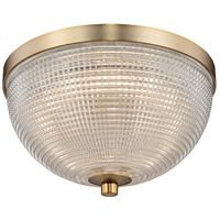 Kalco 512141WB Portland LED 10 inch Winter Brass Flush Mount Ceiling Light