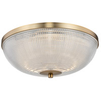 Kalco 512142WB Portland LED 16 inch Winter Brass Flush Mount Ceiling Light
