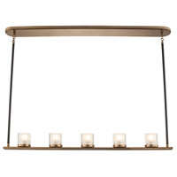Kalco 512461LB Library LED 41 inch Library Brass Island Ceiling Light