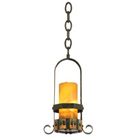 Kalco 5125NI/CALC Cordova 1 Light 4 inch Natural Iron Mini Pendant Ceiling Light in Calcite (CALC)