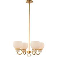 Kalco 513071WB Ascher 4 Light 22 inch Winter Brass Chandelier Ceiling Light