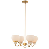 Kalco 513071WB Ascher 22 inch Winter Brass Chandelier Ceiling Light