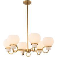 Kalco 513072WB Ascher 6 Light 28 inch Winter Brass Chandelier Ceiling Light