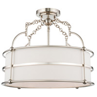 Kalco 513241PN Carson 18 inch Polished Nickel Pendant Ceiling Light