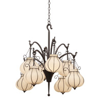 Kalco Lighting Mardi Gras 8 Light Chandelier in Black 5138B/1433
