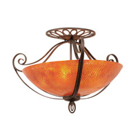 Kalco 5181AC/G3543 Mirabelle 5 Light 31 inch Antique Copper Semi Flush Mount Ceiling Light in Blaze (G3543)