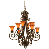 Kalco Mirabelle 8 Light Chandelier in Antique Copper 5188AC/1520
