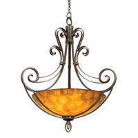Kalco 5194AC/NS104 Mirabelle 6 Light 40 inch Antique Copper Pendant Ceiling Light in Buddha Leaf (NS104)