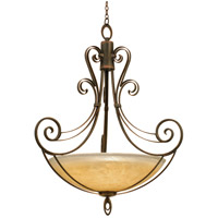 Mirabelle 6 Light 50 inch Black Pendant Ceiling Light in Antique Filigree (G3535), Antique Copper