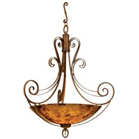 Kalco 5197CI/SMKTAUP Mirabelle 6 Light 58 inch Country Iron Pendant Ceiling Light