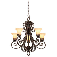 Mirabelle 5 Light 28 inch Antique Copper Chandelier Ceiling Light in Stone (1577)