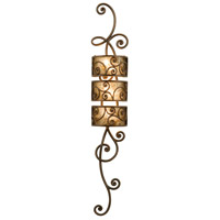Kalco 5404AC Windsor 3 Light 10 inch Antique Copper Wall Sconce Wall Light in Without Shade