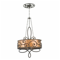 Kalco 5409SV Windsor 4 Light 27 inch Aged Silver Chandelier Ceiling Light in Without Shade
