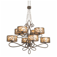 Kalco 5413SV Windsor 40 Light 60 inch Aged Silver Chandelier Ceiling Light in Without Shade