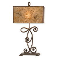 Kalco Lighting Windsor 2 Light Table Lamp in Antique Copper 5418AC