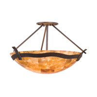Kalco 5457TP/NS112 Aegean 3 Light 23 inch Tuscan Sun Semi Flush Mount Ceiling Light in Iridescent Shell (NS112), Tawny Port photo thumbnail