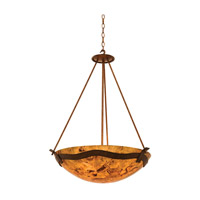 Kalco 5458CI/ALAB Aegean 5 Light 27 inch Country Iron Pendant Ceiling Light