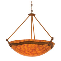 Kalco Lighting Aegean Pendant in Bellagio with Natural Buddha Leaf Shade 5459BG/NS105