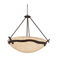 Kalco 5459TP/VIC Aegean 6 Light 40 inch Tawny Port Pendant Ceiling Light