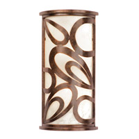 Asiana 3 Light 10 inch Copper Claret ADA Wall Sconce Wall Light in Without Glass