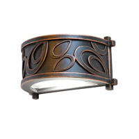 Kalco 5492AC Asiana 1 Light 4 inch Antique Copper Outdoor Wall Lantern in Without Glass